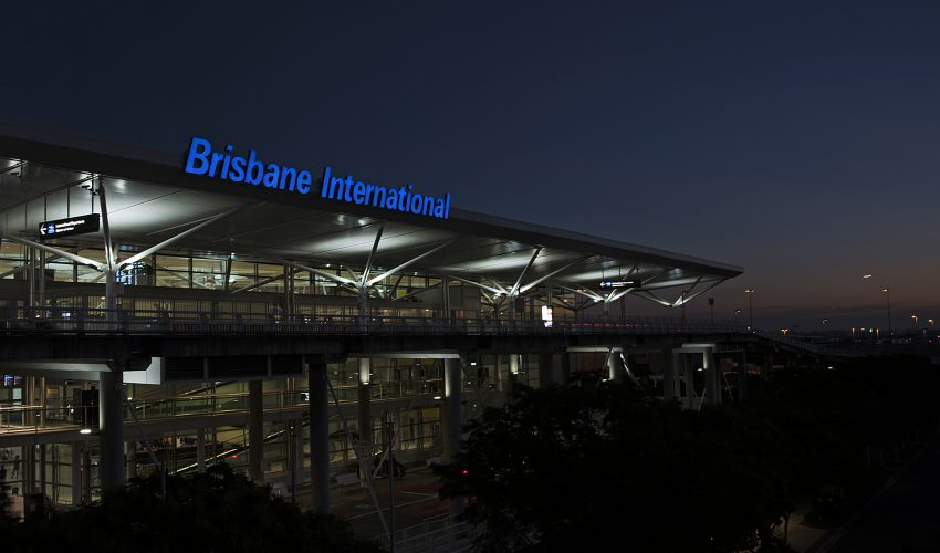 Brisbane International Terminal Illuminated Signage